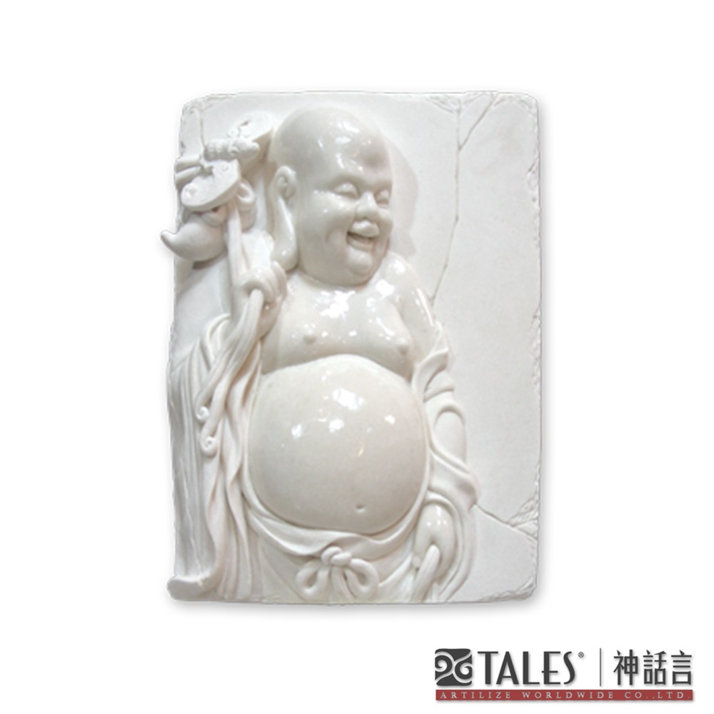 白玉瓷雕系列- 彌勒佛