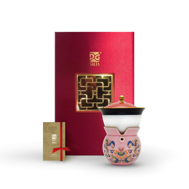 新乾隆美學-小乾隆茶器(1壺1杯)-粉漾鳳蓮
