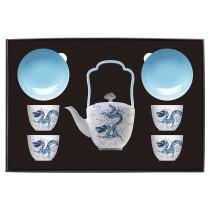 世紀龍顏禮盒-品茗茶具組(4人-1壺4杯4碟)