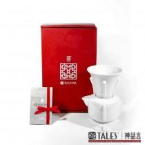 故宮神話-國寶雅翫-丁香尊壺(1壺1杯)-白瓷