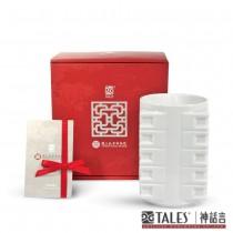 故宮神話-國寶雅翫-瑞玉琮榮(茶器)-白瓷