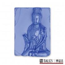 白玉瓷雕綺彩系列-普賢菩薩(靛)