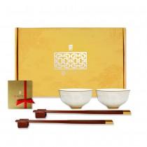 故宮神話-皇家寶璽-五福五代堂寶(碗筷組)