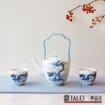 世紀龍顏禮盒-品茗壺杯組(2人-1壺2杯)