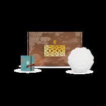 花窗舞影-繁花錦葵-盤