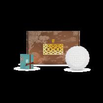 花窗舞影-金英雅菊-盤