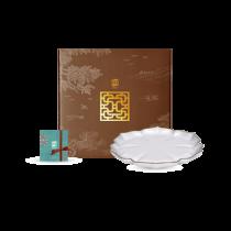 花窗舞影-富貴菱花-油切盤