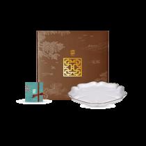 花窗舞影-繁花錦葵-油切盤