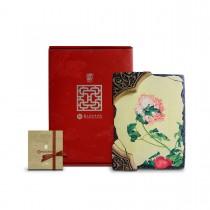 故宮神話-窗櫺花影岩飾-仙萼長春-牡丹