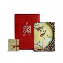 故宮神話-窗櫺花影岩飾-仙萼長春-海棠玉蘭