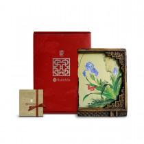 故宮神話-窗櫺花影岩飾-仙萼長春-虞美人蝴蝶花