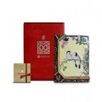 故宮神話-窗櫺花影岩飾-仙萼長春-紫白丁香