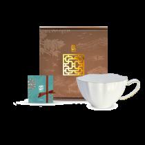 花窗舞影-富貴菱花-花茶杯