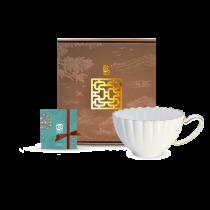 花窗舞影-金英雅菊-花茶杯