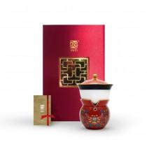 新乾隆美學-小乾隆茶器(1壺1杯)-胭紅鳳蓮