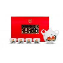 桃喜--祥猴獻瑞品茗茶具組‧齊白石 (4人)