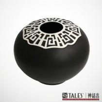 墨玉系列-如意圓身瓶(風雅食具)