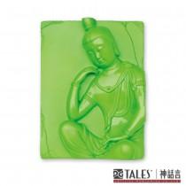 白玉瓷雕綺彩系列-思惟菩薩(綠)