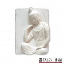 白玉瓷雕系列- 思惟菩薩