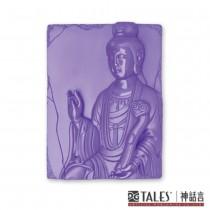 白玉瓷雕綺彩系列-如意觀音(紫)