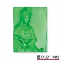 白玉瓷雕綺彩系列-天后媽祖(綠)