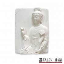 白玉瓷雕系列- 如意觀音