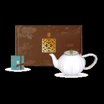 花窗舞影-富貴菱花.茶壺