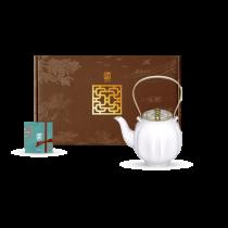 花窗舞影-繁花錦葵-茶壺