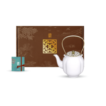 花窗舞影-冰玉丁香-茶壺