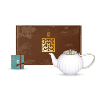 花窗舞影-金英雅菊-茶壺