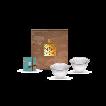 花窗舞影-富貴菱花.茶杯