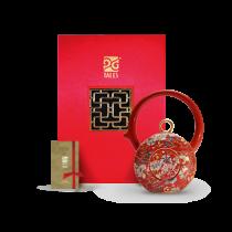 8福運轉.茶器-胭紅番蓮壺