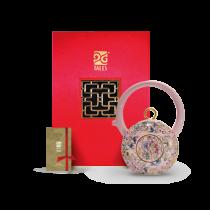 8福運轉.茶器-粉紅番蓮壺
