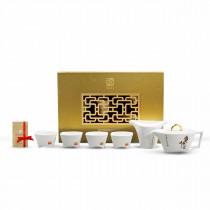 故宮神話-臨風駿馬-馬鞍壺茶具組(1壺1茶海4杯)