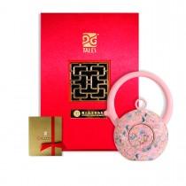 故宮神話-乾隆雅翫-8福運轉-番蓮粉(1壺1杯)-茶器