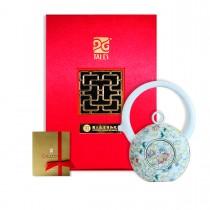 故宮神話-乾隆雅翫-8福運轉-番蓮藍(1壺1杯)-茶器
