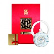故宮神話-乾隆雅翫-8福運轉-鳳蓮白(1壺1杯)-茶器