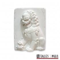 白玉瓷雕系列- 雄獅
