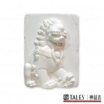 白玉瓷雕系列- 雌獅