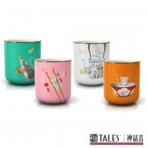 鼠來保-茶杯禮盒 (4入) 絲布禮盒
