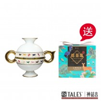 特惠 故宮神話-乾隆雅翫-豆茶器-動物紋(1壺2杯) 贈 市價 $590寶島茶