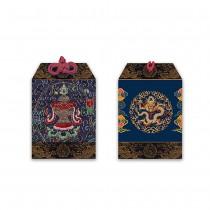 龍藏萬福-八吉祥刺繡平安符-藍-寶瓶