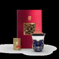 新乾隆美學-小乾隆茶器(1壺1杯)-花青如意