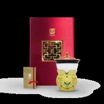 新乾隆美學-小乾隆茶器(1壺1杯)-輝黃如意