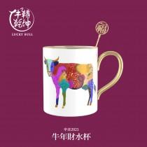 牛轉乾坤-牛年貴人杯-馬克杯-福(白)