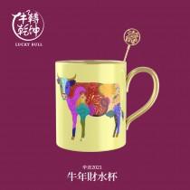 牛轉乾坤-牛年貴人杯-馬克杯-壽(黃)