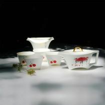桃喜-馬鞍壺茶具組(1壺4杯1茶海)